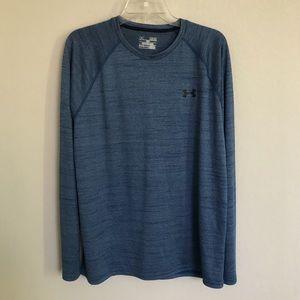 Under Armour heather blue heat gear shirt